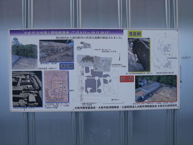 豊臣石垣公開プロジェクトのパネル(第1回発掘調査)