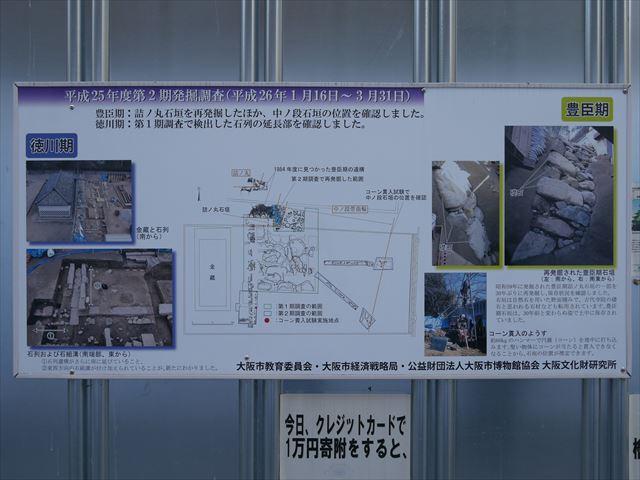 豊臣石垣公開プロジェクトのパネル(第2回発掘調査)