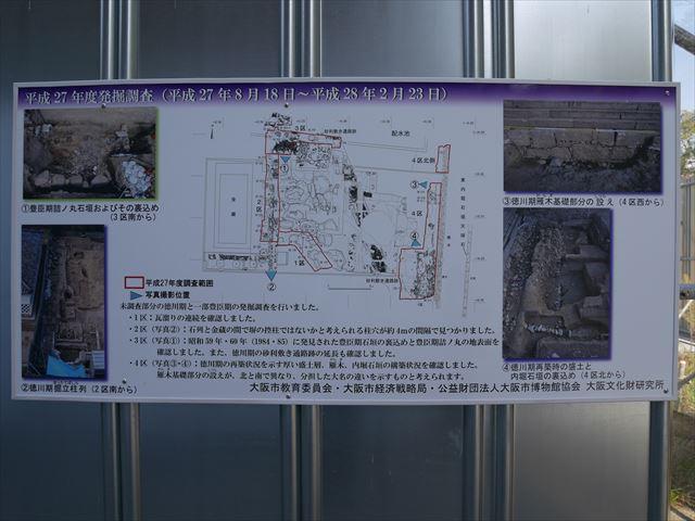 豊臣石垣公開プロジェクトのパネル(第4回発掘調査)