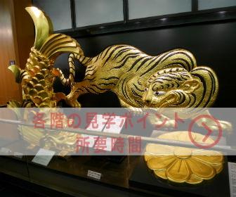 大阪城、各階の見学ポイントと所要時間
