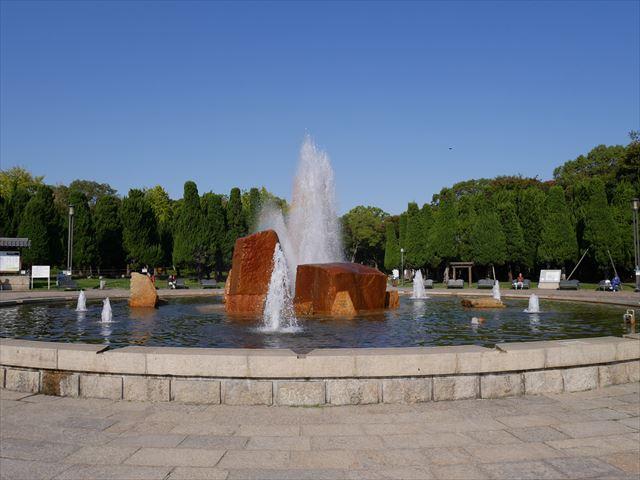 大阪城公園の噴水