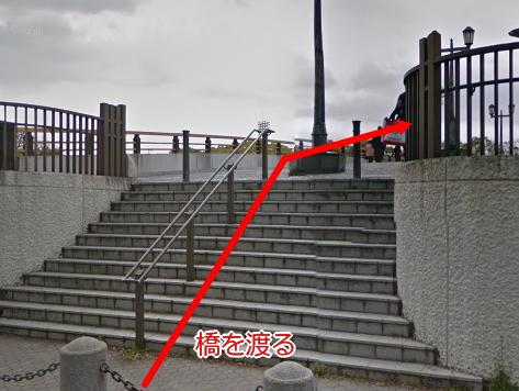 大阪城ホール手前の橋