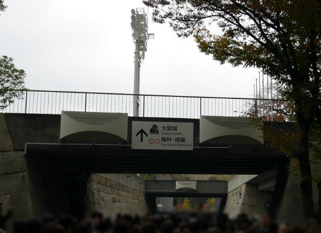 大阪城ホールの横の小路