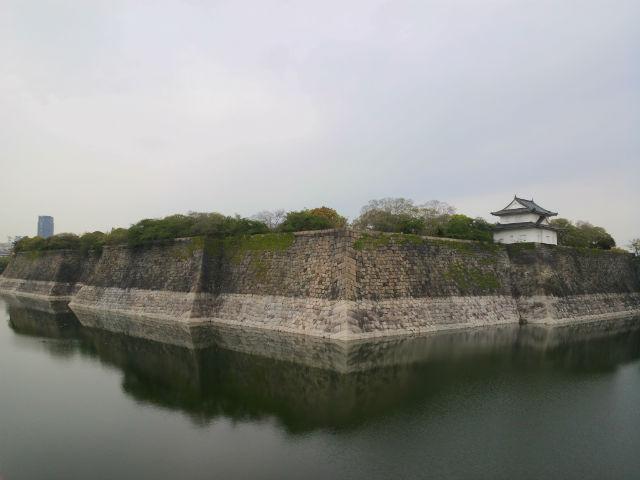大阪城「一番櫓」と南外堀