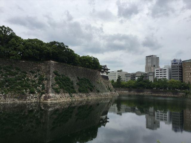 大阪城「乾櫓」と西外濠