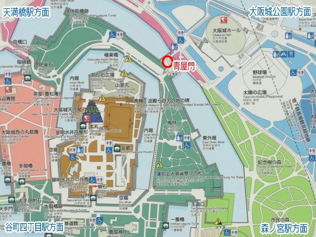 大阪城「青屋門」地図