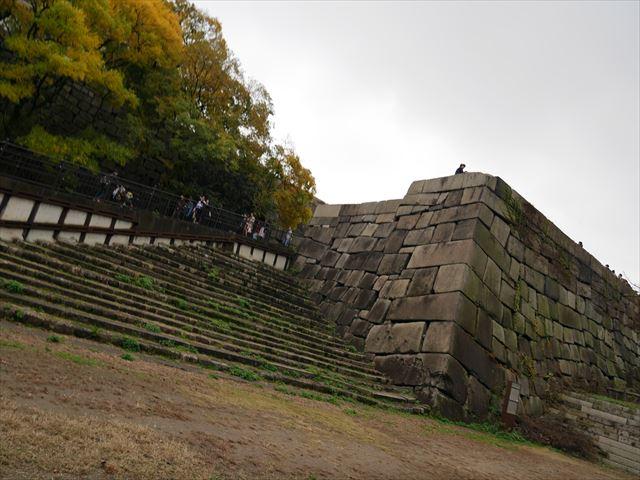 大阪城「山里丸の石垣」