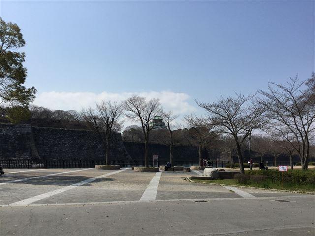 大阪城と東外堀付近