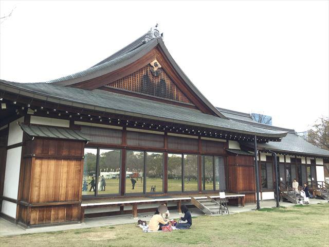 大阪城西の丸庭園内にある迎賓館