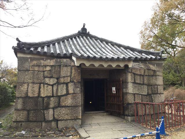 大阪城西の丸庭園にある焔硝蔵