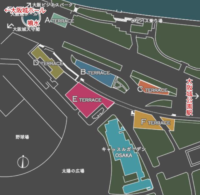 「JO-TERRACE-OSAKA」マップ