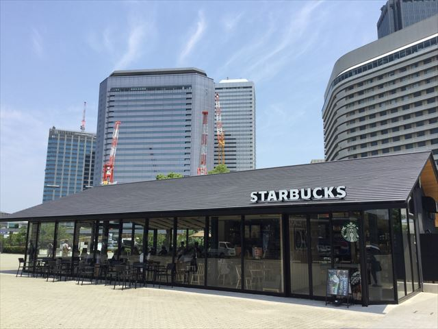 大阪城公園駅前「ジョーテラスオオサカ」スターバックスコーヒー