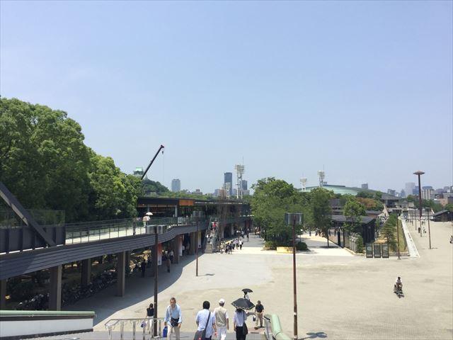 JR大阪城公園駅から見るジョーテラスオオサカ