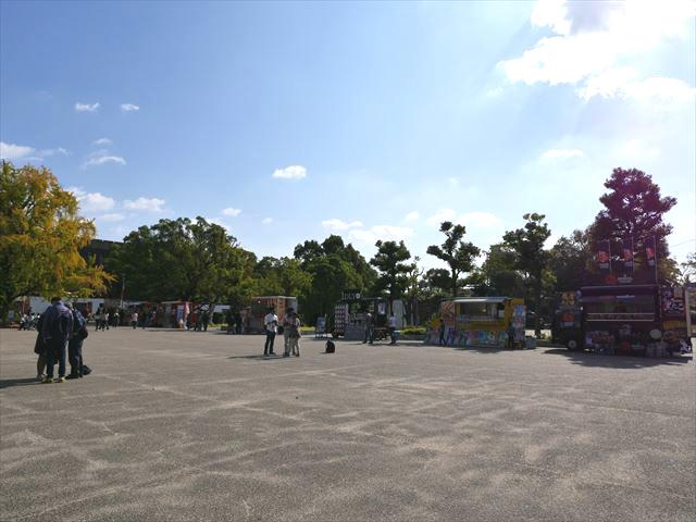 大阪城本丸の屋台カー