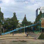 大阪城公園の遊具広場「子供天守閣」ローラー滑り台