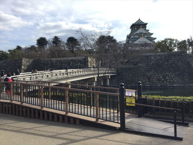 大阪城極楽橋とスロープ