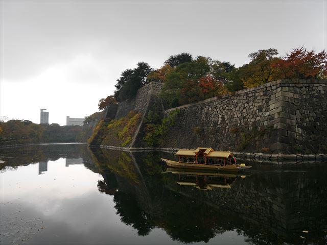 大阪城御座船が東内堀に入っていった