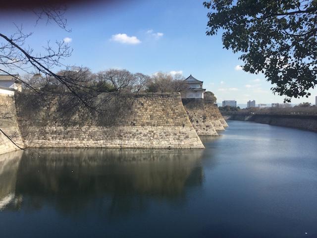 大阪城大手門横の外堀
