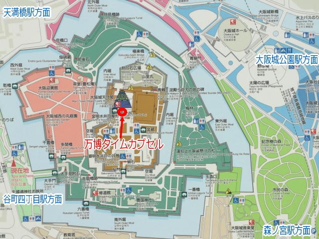 大阪城公園「万博タイムカプセル」地図