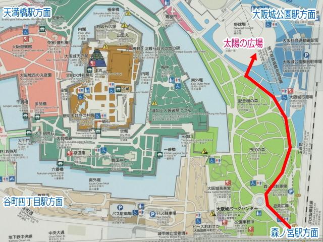 大阪城公園「太陽の広場」地図