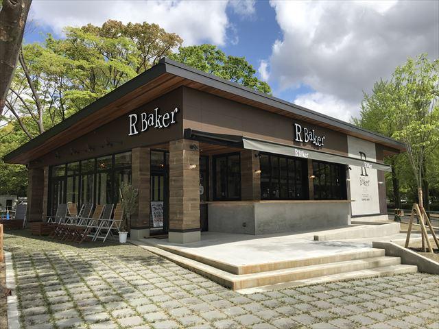 「R Baker(アールベイカー)」大阪城店、入口付近