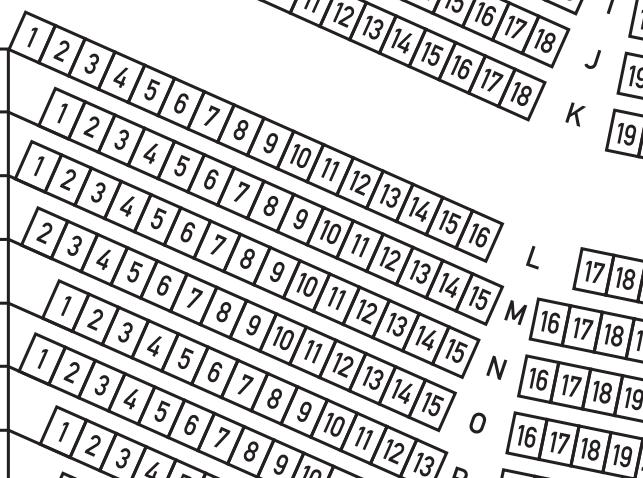 大阪城音楽堂の座席表(拡大)