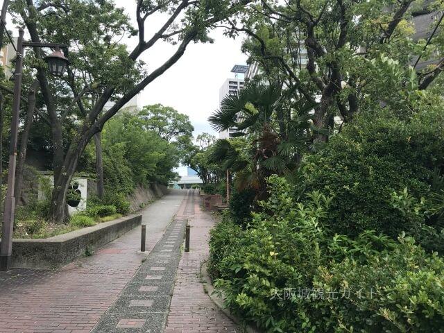 越中井(細川忠興屋敷跡・細川ガラシャ夫人最期の地)横の歩道