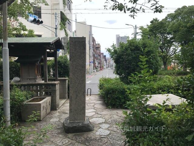 越中井(細川忠興屋敷跡・細川ガラシャ夫人最期の地)から東側を見た様子