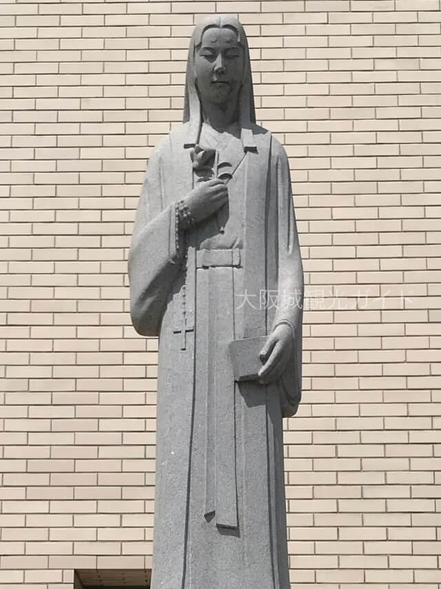 「聖マリア大聖堂カトリック玉造教会」細川ガラシャ像
